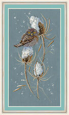 Counted Cross Stitch Kit GOLDEN HANDS - PASSERINE OWL