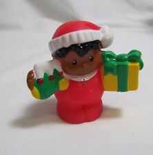 New! Fisher Price Little People HOLIDAY CHRISTMAS MICHAEL BOY in Red w/ STOCKING