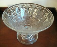 ANTIQUE VICTORIAN FLINT GLASS COMPOTE C1869 GEORGE PEABODY