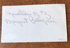 "Wizard Of Oz ""Munchkin Of Oz "" Margaret Pellegrini Signed Autographed Jsa Coa"