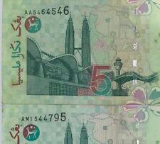 Ali center Rm5 banknotes Prefixes AA & AM ( 1st and last prefix) nice