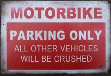 Motorcycle motorbike metal tin sign vintage pub shop cafe retro garage kitchen