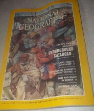 National Geographic July 1984~Underground Railroad~Escape from Slavery~VGC