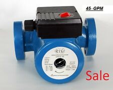 45 GPM 3 speed hot water Circulating Pump use with  furnaces, hydronic heating