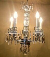 Vintage Lighting extraordinary 1930s Deco crystal chandelier