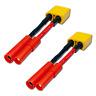 2x Adapter XT90 Male > HXT 4,0mm 4.0 4mm Stecker Goldstecker Lipo Akku RC Kabel