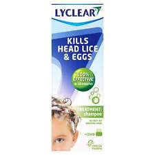 Lyclear Head Lice Treatment Shampoo with Comb 200ml (Kills Head Lice and Eggs)