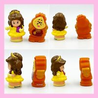Fisher Price Little People Beauty & the Beast Belle & Clogsworth SANITIZED CLEAN