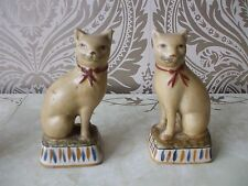 VINTAGE CON EV Staffordshire Pottery Art Deco Egiziano ispirato Mantle Gatti