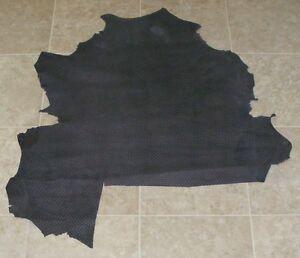 (MGA8428) Hide of Blue Grey Printed Lambskin Finished Back Leather Hide Skin
