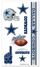 Dallas Cowboys Temporary Tattoos 10 Pack [NEW] NFL Face Decal Stickers CDG