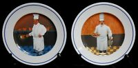 Set (2) Williams Sonoma GUY BUFFET CHEF SERIES Salad Plates