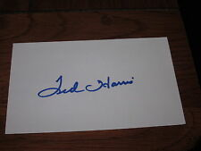 Ted Harris Autographed 3X5 Index Card-Red Wings