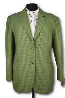Ladies Tweed Country Blazer Jacket - ITALIAN TAILORED WOOL -UK 12 - SUPERB 975