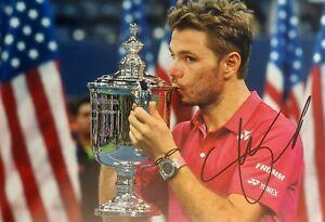 STAN WAWRINKA Tennis Foto 20x30 signiert IN PERSON Autogramm signed US Open 2