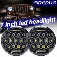 Firebug Jeep Wrangler Headlights, Jeep 7'' Round LED Projector Headlights DRL