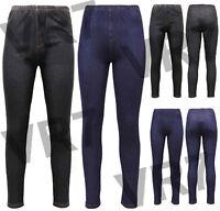"""Women""""s Stretchy Denim Look Skinny Ladies Pack of 2 Jeggings Leggings Plus Size"""