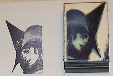 Witch Face rubber stamp Amazing Arts beautiful detail!