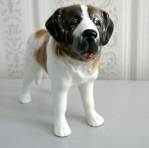 VINTAGE BONE CHINA ORNAMENT OF A ST BERNARD CLEAN CONDITION