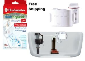 Fluidmaster Flush 'n Sparkle Automatic Bleach Toilet Bowl Cleaning System Clean