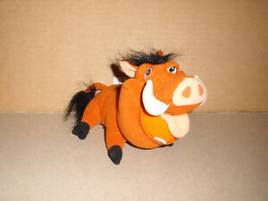 "DISNEY HASBRO STUFFED PLUSH 7"" PUMBAA  2002 EXCELLENT"