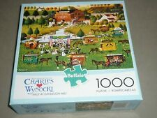 CHARLES WYSOCKI 1000 pc puzzle RALLY AT DANDELION MILL  #11439  - COMPLETE EC