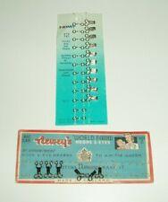 VINTAGE NEWEY HOOKS & EYES / BARS ON CARDS BLACK SIZE 2 & SILVER SIZE 3 JOB LOT