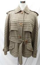 VALENTINO BOUTIQUE Womens COAT JACKET WOOL Houndstooth Pattern SIZE L