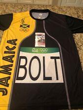 Usian Bolt Signed 2016 Rio Olympics Jersey Jamaica JSA Cert