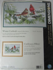 Dimensions Counted Cross Stitch WINTER CARDINALS Cardinal Red Male Female Bird