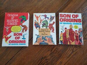 RARE! MARVEL FIRESIDE ORIGINS OF & SON OF ORIGINS OF MARVEL COMICS BOX SET '76