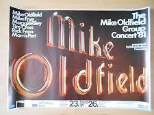MIKE OLDFIELD   1981  Bremen - orig. Concert Poster - Konzert Plakat  A1  NEU