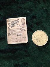 Newspaper circa 1943 1:12 scale dolls house miniature handmade