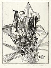 Irmgard horlbeck-KAPPLER-Arte (dopo Paul viennese) - ACQUAFORTE 1974