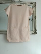 Girls Chloe Coral Pink Dress With Gold Studs Age 10 Pristine Condition