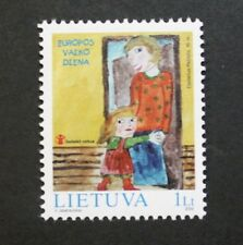 European children's day, Mother & child stamp, 2002, Lithuania, SG ref: 798, MNH