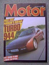 Motor (6 July 1985) Porsche 944 Turbo, Jensen Interceptor, Citroen Visa GTi