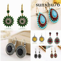 New Women Fashion Vintage Multicolor Earrings Bohemian Round Ethnic Boho