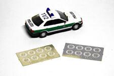 Ätzteile 1:87 H0 BMW 3er E36 Radkappen, passend für Herpa, für Umbau / Eigenbau