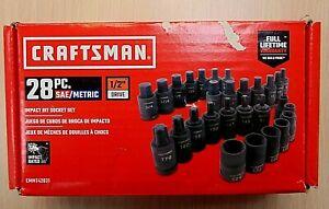 """Craftsman #CMMT42031 28pc SAE/Metric 1/2"""" Drive Impact Bit Socket Set"""