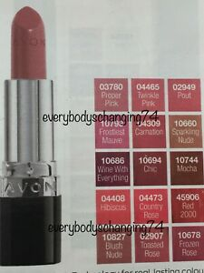 Avon TRUE COLOUR Lipstick VARIES COLOURS SHADES Brand New & Sealed