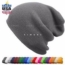 dcaa7b5ad924 Cuff Beanie Knit Hat Winter Warm Cap Slouchy Skull Ski Hats Men Women Warm  Plain