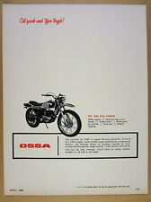 1969 Ossa Pioneer 250cc Motorcycle photo vintage print Ad