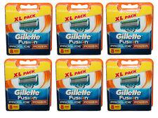 48x Gillette Fusion ProGlide Power / 48er blades 6x 8er Gilette Gillete Gilete