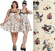 Hell Bunny Cotton Plus Size Sleeveless Dresses for Women