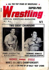 Super-Pro Wrestling 1974 Vol 1 #8 Sammartino & Denucci cover Red Lyons Pin-up