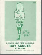 April 5, 1961 Boy Scouts of America LUNCH-O-REE Waldorf Astoria Hotel NY Booklet