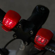 2pcs Cycling Bike Bicycle Red Silicone Beetle Frog Warning Front / Rear Lights