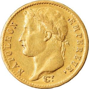 [#855851] Coin, France, Napoléon I, 20 Francs, 1812, Paris, EF, Gold, KM:695.1