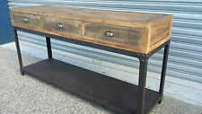NEW INDUSTRIAL RUSTIC BUFFET SIDEBOARD CUPBOARD HALL TABLE (111-280)